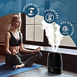 Ultrasonic Cool Mist Humidifier (6L) with Essential Oil Tray