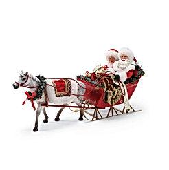Possible Dreams Santa's One Horse Open Sleigh