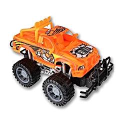 ArtCreativity 8 Inch Tiger Monster Toy Truck for Boys and Girls - Push n Go Big Wheel 4×4 Kids Pickup Car