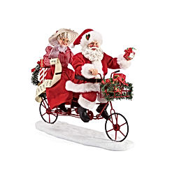 Department 56 Possible Dreams Santa Sports and Leisure Bicycle Built for Two Personalizable Figurine