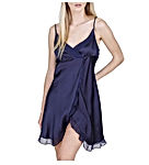 Luxury Silk Sleepwear Babydoll Lingerie Nightgown 100% Silk Slip Chemise with Sexy Front Slit