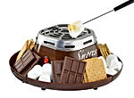 Indoor Electric Stainless Steel S'mores Maker with 4 Compartment Trays for Graham Crackers