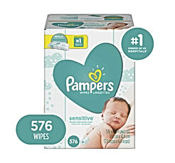 Baby Wipes, Pampers Sensitive Water Baby Diaper Wipes, Hypoallergenic