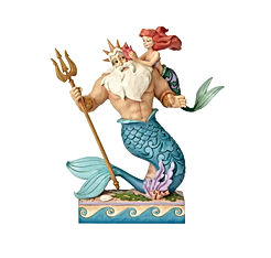 Little Mermaid Ariel and Triton Figurine