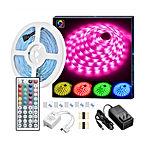 LED Strip Lights, 16.4ft RGB LED Light Strip 5050 LED Tape Lights, Color Changing LED Strip Lights with Remote