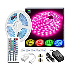 LED Strip Lights, 16.4ft RGB LED Light Strip 5050 LED Tape Lights, Color Changing LED Strip Lights with Remote