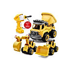 Take Apart Toys for Boys & Girls with Electric Drill - Construction Stem Toys 3 in 1 Excavator