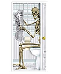 Skeleton Restroom Door Cover Party Accessory