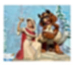 Belle & Beast in Winter White Woodland Collection