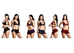 Women Lace Lingerie V Neck Babydoll Bodysuit Bralette Bra