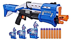 Fortnite TS-R Blaster & Llama Targets -- Pump Action Blaster, 3 Llama Targets, 8 Official Mega Darts