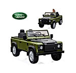 Kids Ride on Car 12V Licensed Land Rover Kids Electric Car Dual Drive Motorized Cars for Kids with Remote Control