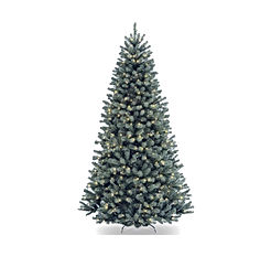 National Tree 7.5 Foot North Valley Blue Spruce Tree with 700 Clear Lights