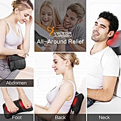 Neck Massage Pillow Shiatsu Deep Kneading Shoulder Back and Foot Massager