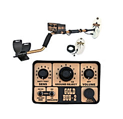 """Fisher Gold Bug-2 Metal Detector with 10"""" Coil, 6.5"""" Coil"""
