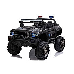 Aosom 12V Kids Electric 2-Seater Ride On Police Car SUV Truck Toy
