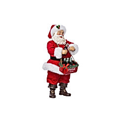 Santa Opening Coke Tablepiece