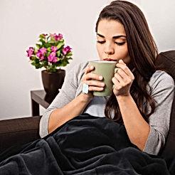 Fleece Blanket Twin Size Black Lightweight