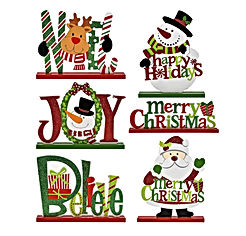 Gift Boutique 6 Christmas Table Decorations for Dinner Party Coffee