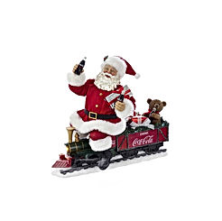 Kurt Adler 13.25 Inch Coca-Cola Battery-Operated Santa Train