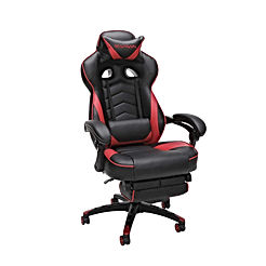 Racing Style Gaming Chair, Reclining Ergonomic Leather Chair with Footrest