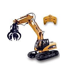 Fistone RC Truck Timber Grab Loader Crawler Material Handler Alloy Gripper Engineer Machine