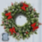 Pre-lit 24 Inch Christmas Wreath 50 ClearLED Lights with Timer