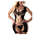 Sexy Lingerie for Women Fishnet Halter Chemise Deep V Hot