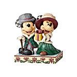 Mickey and Minnie Victorian Christmas Figurine
