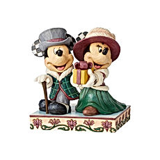 Mickey and Minnie Victorian Christmas Figurine