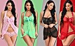 Women Lingerie Nightwear Sexy Babydoll Lace Chemise