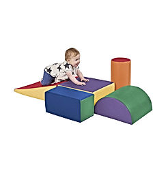 ECR4Kids SoftZone Climb and Crawl Activity Play Set, Lightweight Foam Shapes for Climbing