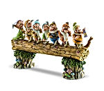 Snow White and the Seven Dwarfs Heigh-ho Stone Resin Figurine