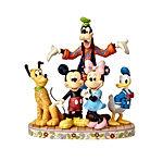 Jim Shore Disney Traditions by Enesco Fab 5 Mickey, Minnie, Donald, Goofy and Pluto