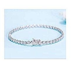 Gems.RDX Tennis Bracelet 1.1 ct tw Real Round Cut Diamond Ladies