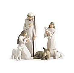 Willow Tree Nativity, sculpted hand-painted nativity figures