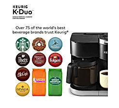 Coffee Maker - Single Serve and 12-Cup Carafe Drip Coffee Brewer