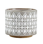 "Rivet Geometric Ceramic Planter, 6.5""H"