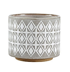 "Rivet Geometric Ceramic Planter, 6.5""H"