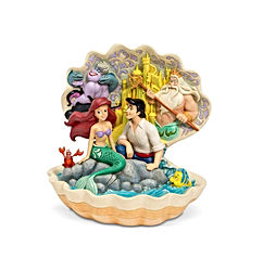 Little Mermaid Shell Scene Figurine