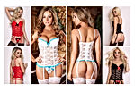 Plus Size Sexy Corset Garter Belt Lingerie Set for Women Exotic Floral Lace Camisole Sleepwear