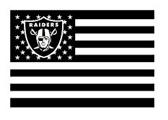 NFL Oakland Raiders Stars and Stripes Flag Banner