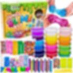 Slime Kit for Girls Boys - Ultimate Glow in the Dark Glitter Xmas Slime Making Kit