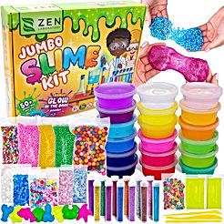 Slime Kit for Girls Boys - Ultimate Glow in the Dark Glitter Xmas Slime Making Kit