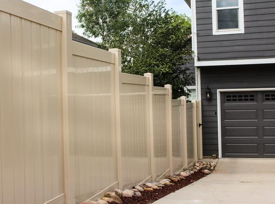 Beige Vinyl Fence