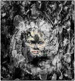 Face in the Leafs Hand Colour_Gerald Cha
