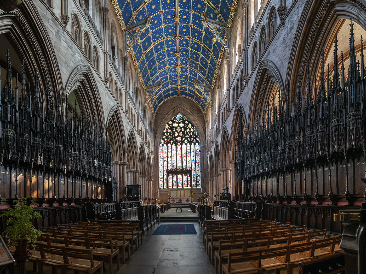 Inside Carlisle Cathedral