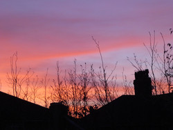 Sunset Over The Roof Tops_Gilly Linton