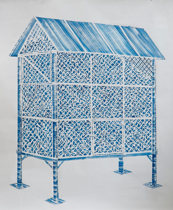 Corn barn no.3 ( Metal with wire )