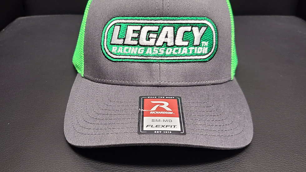 Legacy Racing Hat - Flex Fit Trucker Charcoal/Neon Green